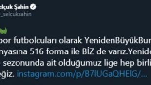 Bursasporlu futbolculardan kampanyaya destek