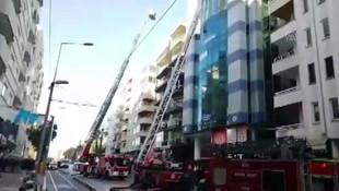 Antalya'da iş merkezinde yangın paniği