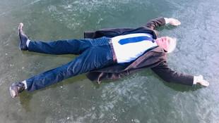 Göçdere Gölü buz tuttu