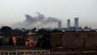 Hafter güçleri havalimanını vurdu
