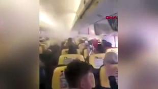 Havada kabus ! Uçağın için dumanla doldu