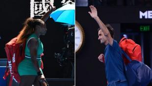 Serena Williams ve Federer, Avustralya Açık Tenis Turnuvası'nda 3. turda