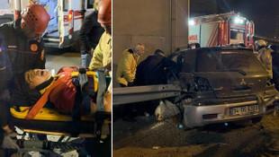 Kaza yapan 14 yaşındaki sürücünün bacağı koptu