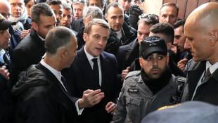 Macron, İsrail polisiyle tartıştı