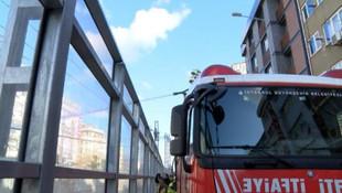 Marmaray'da çıkan yangın seferleri aksattı