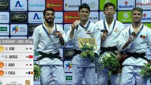 Milli judoculardan bir gümüş, bir bronz madalya