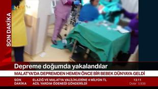 Malatya'da doğum anında deprem !