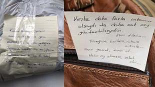 Elazığ'a giden yardım paketinde duygulandıran not
