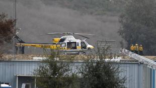 Kobe Bryant'ın öldüğü helikopter kazasından ilk kareler