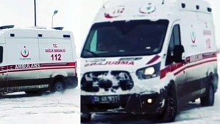 Ambulansla drift rezaleti kamerada!