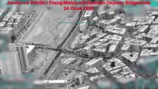 Deprem bölgesi İHA'lar tarafından görüntülendi