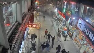 Elazığ depreminde binanın yıkılma anı kamerada