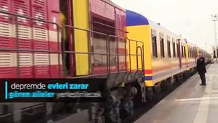 TCDD'nin yardım treni Elazığ'a ulaştı