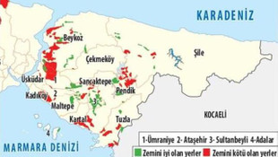 İşte İstanbul'un ilçe ilçe deprem risk haritası