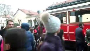 İstiklal Caddesi'nde hareketli anlar