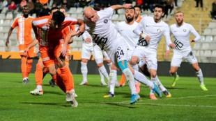 TFF 1. Lig: Adanaspor: 2 - Osmanlıspor: 0 (İlk yarı sonucu)