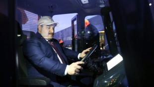 Sürücüsüz tarım aracı ve kaya kamyonu test edildi