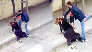 Eşini sokak ortasında dövmüştü... Tahliye edildi !