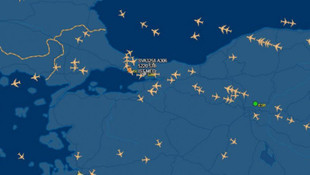 İstanbul hava sahasında uçak yoğunluğu