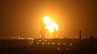 İran'ın ABD üslerini vurma anı kamerada