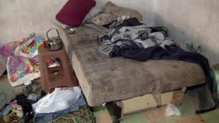 Zorla dilendirilen çocukların kaldığı hücre evi görüntülendi