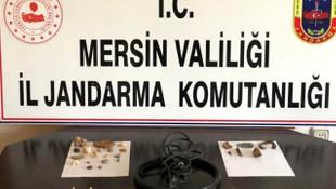 Mersin'de tarihi eser kaçakçılarına büyük operasyon