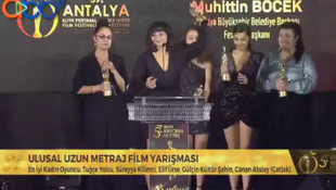 Antalya Altın Portakal Film Festivali'nde kadın sanatçıların isyanı