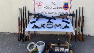 Konya'da silah kaçakçılığına büyük operasyon: 4 gözaltı