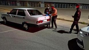 Karantinadan kaçan adam drift yaparken yakalandı