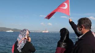 Sondaj gemisi Kanuni Çanakkale Boğazı'ndan geçti