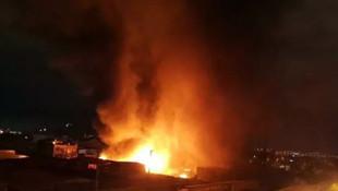 Ankara'da büyük yangın! 2 fabrikayı yaktı