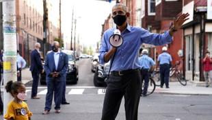 Obama sokağa indi, megafonla oy istedi