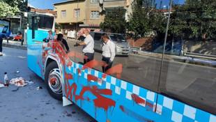 İstanbul'da otobüse alınmayan kadın öyle bir şey yaptı ki!