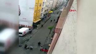 Kadıköy'de otel önünde silahlı kavga