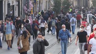 Taksim'de drone'lu maske denetimi
