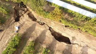 Fay hattında ürküten görüntü! 3 metrelik yarıklar oluştu