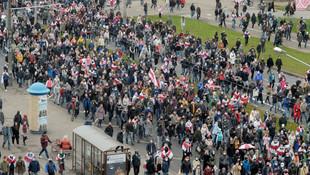 Belarus sokakları yeniden karıştı!