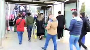 İstanbul'da toplu taşımada korkutan görüntüler