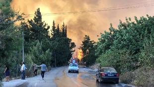 Hatay'da peş peşe yangın! Evler tahliye ediliyor