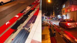 Türk bayrağının yola serenler hesap verecek