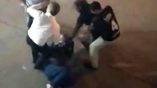 Boşanmak istemeyen kadını sokak ortasında dövdüler!