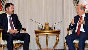 KKTC Cumhurbaşkanı Tatar, Bakan Kurum ile görüştü