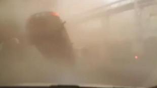 Hortuma kapılan araçta beli kırılmıştı! Şoförü hayatını kurtarmış
