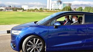 KKTC'nin yerli otomobili GÜNSEL test edildi
