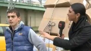 Kağıt toplayıcı çocuk CNN Türk muhabirini pişman etti