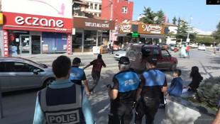 Maskesiz vatandaş polisten kaçtı