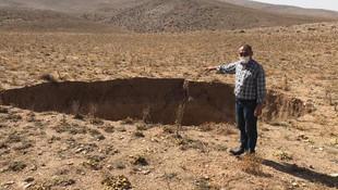 Konya'da 20 metre derinliğinde obruk oluştu
