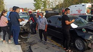 Sakarya'da korkunç kaza: 3 yaralı