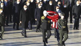 Anıtkabir'de 10 Kasım töreni! Devlet erkanı Atatürk'ün huzurunda