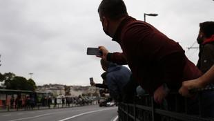 Galata köprüsünde Formula 1 şovu